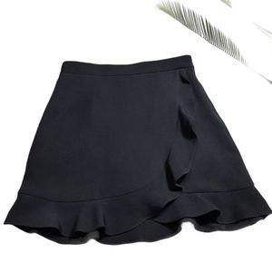Club Monaco Suzillie Black Ruffle Skirt Size 10